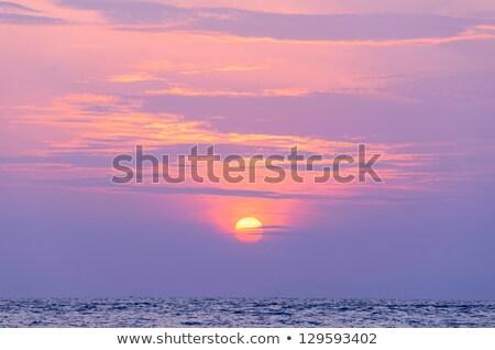 Rosa nascer do sol beira-mar manhã céu pôr do sol Foto stock © Kuzeytac