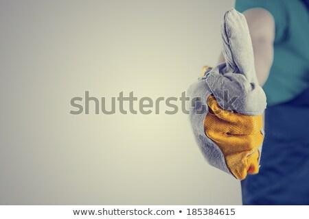 Handlowiec uśmiech szczęśliwy budowy tle Zdjęcia stock © photography33