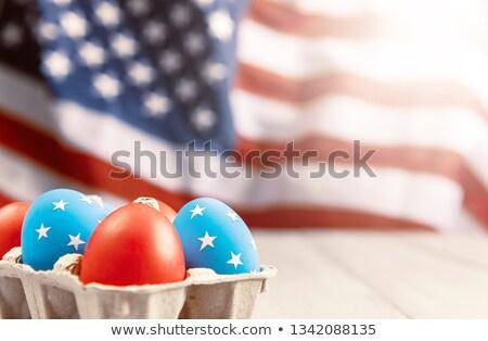 США флаг пасхальное яйцо американский флаг полосатый рисунок Сток-фото © marinini