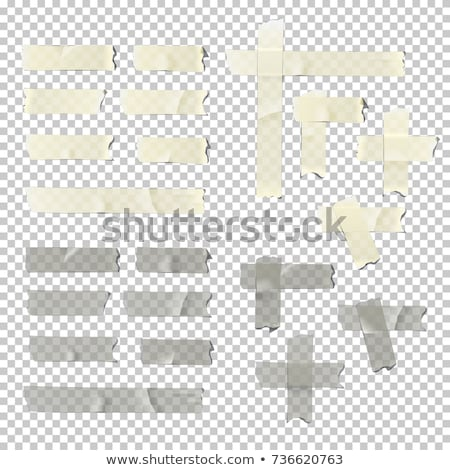 Stock photo: Part of an adhesive tape sticking on a white background
