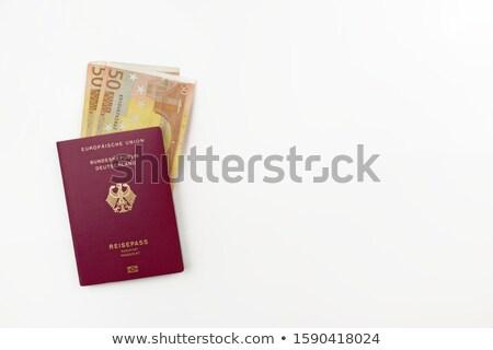 German Passport Macro Stock photo © eldadcarin