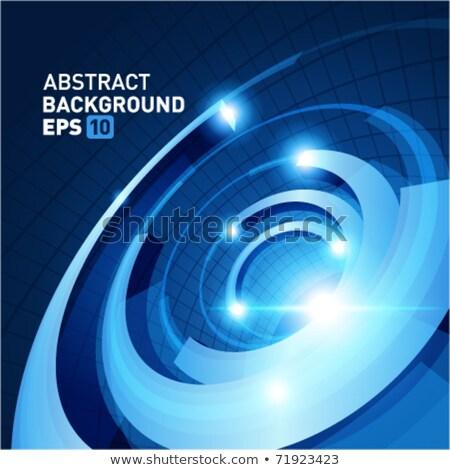 Kék pörgés eps 10 vektor akta Stock fotó © beholdereye