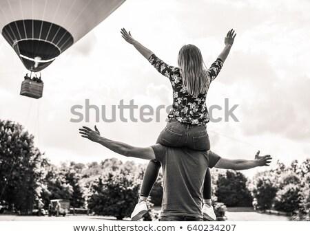 человека · широкий · открытых · оружия · счастливым · деловой · человек - Сток-фото © feedough