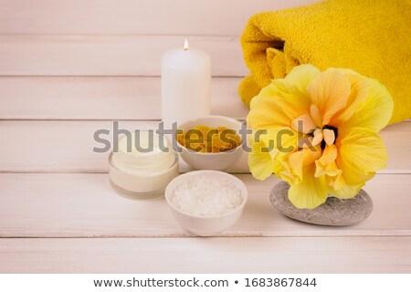 Hibiscus sea salt. Stock photo © gitusik