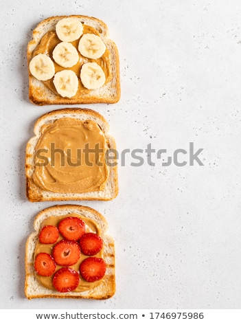 Peanut butter and strawberry, banana sandwich Stock photo © MSPhotographic