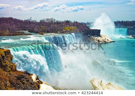 Niagara · vízesés · közelkép · patkó · vízesés · Ontario · Kanada - stock fotó © hofmeester
