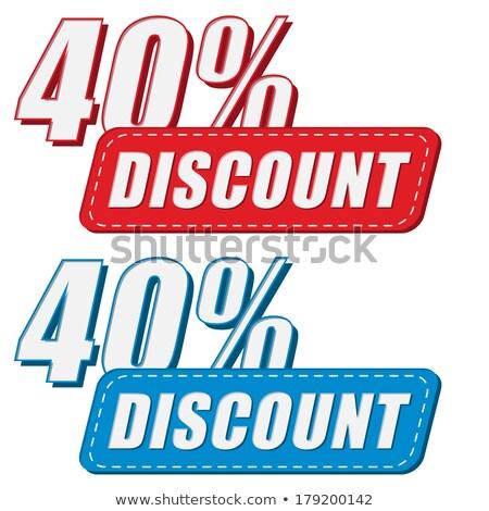40 porcentajes descuento dos colores Foto stock © marinini