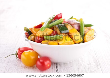 ratatouille, fried vegetables on plate Stock photo © M-studio