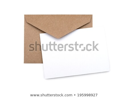 envelope with card isolated on white background stock photo © natika