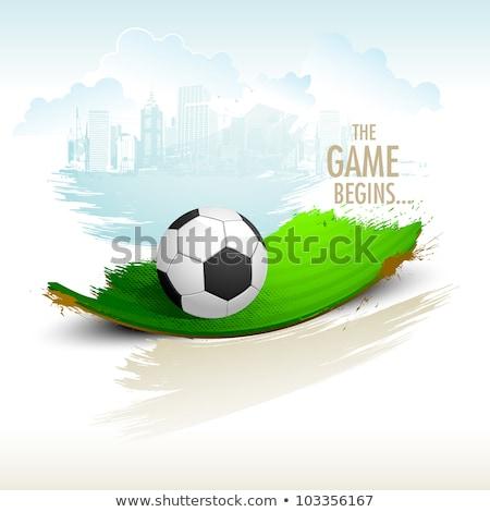 Balón de fútbol hermosa agua fútbol mundo fútbol Foto stock © cherezoff