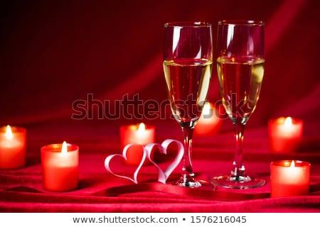 coração · dia · dos · namorados · cartão · borboleta · abstrato - foto stock © davidarts