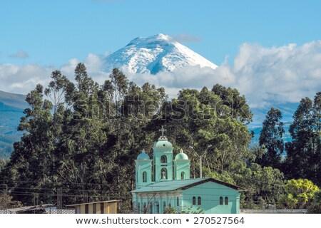 Vale vulcão Equador paisagem neve beleza Foto stock © xura