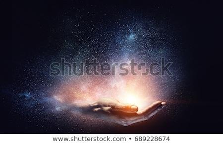 varázslatos · fények · absztrakt · bokeh · fény · zöld - stock fotó © 3dart