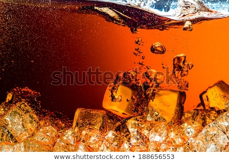 соды · стекла · желтый · фон · льда - Сток-фото © gemenacom