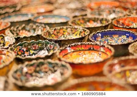 Mano verniciato turco lastre shelf bella Foto d'archivio © feverpitch