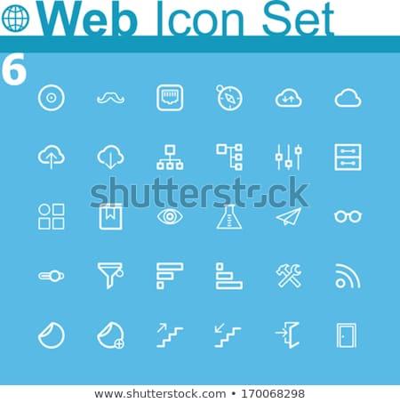 Upload Sticker Icon Stok fotoğraf © tele52
