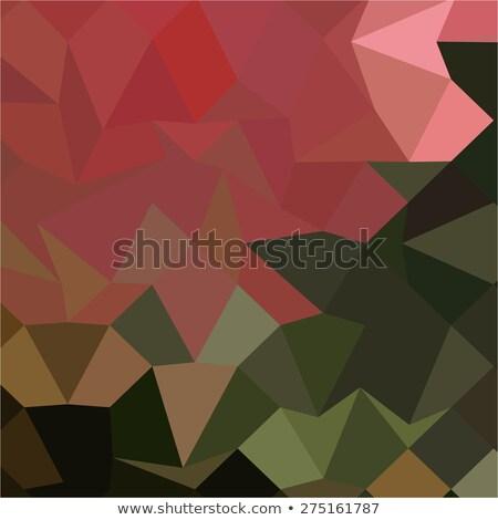 Yeşil soyut düşük çokgen stil örnek Stok fotoğraf © patrimonio
