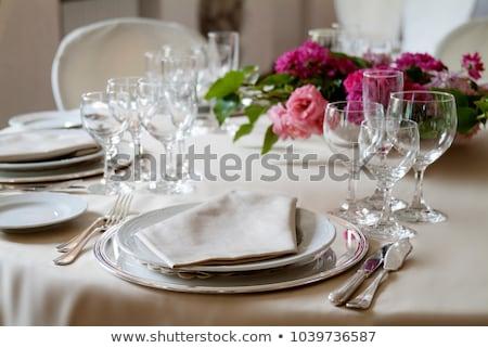 Ornamenti tavola ricevimento di nozze sport divertimento velocità Foto d'archivio © everelative