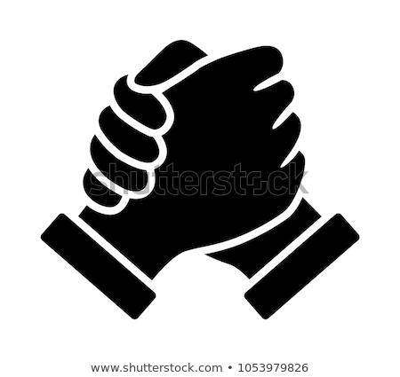 Kéz markolás fiú illusztráció tart akadályfutás Stock fotó © lenm