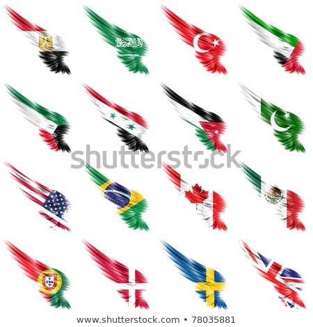 Stok fotoğraf: Brezilya · Kuveyt · bayraklar · bilmece · yalıtılmış · beyaz