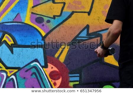 Graffiti wall close up photo Stock photo © Lizard
