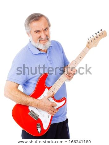 eller · kaya · müzisyen · gitar · oynama · eski - stok fotoğraf © feedough