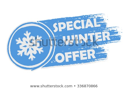 Special Winter Offer With Snowflake Sign Drawn Banner Stockfoto © marinini