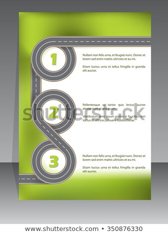 Absztrakt brosúra kettő sáv út terv Stock fotó © vipervxw