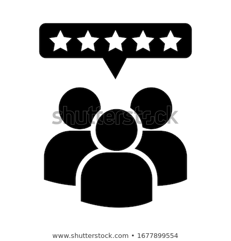customer reviews icon flat design stock photo © wad