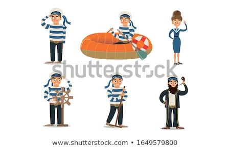 Kobieta marynarz kostium morskich uśmiech moda Zdjęcia stock © Elnur