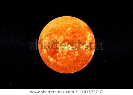 Abstract burning star circle view Stock photo © beholdereye