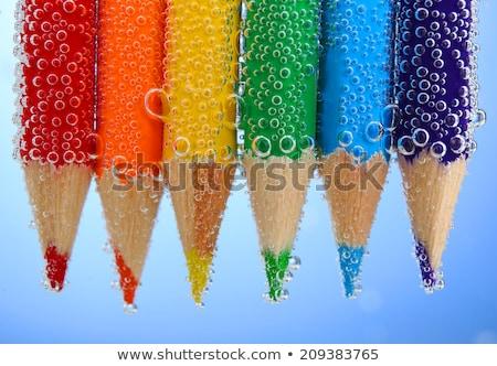 szín · ceruzák · izolált · fekete · közelkép · minta - stock fotó © mady70