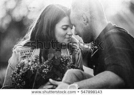 Samimi seksi çift gece erkek Stok fotoğraf © bartekwardziak