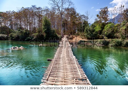 A bridge across the mountains Stock photo © bluering