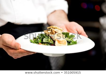 Chef cucina alimentare mano felice Foto d'archivio © Peteer