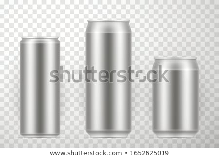 Aluminium peuvent étage illustration fond art Photo stock © bluering