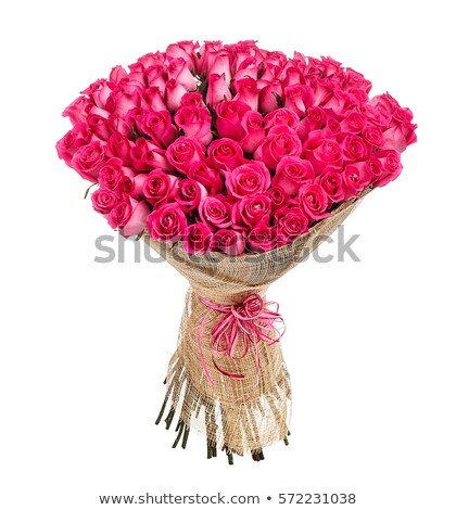 Flower bouquet of 100 pink roses Stock photo © vankad