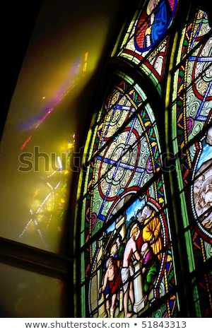 Church Interior in Dinan, Brittany, France Stock photo © smartin69