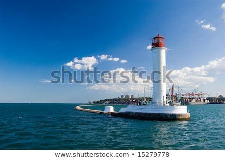 operating lighthouse odessa ukraine black sea stock photo © massonforstock