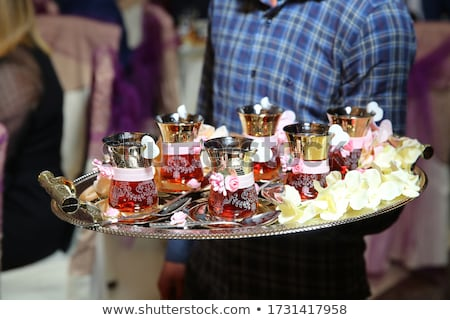 Easten sweets in silver ware Stock photo © dashapetrenko