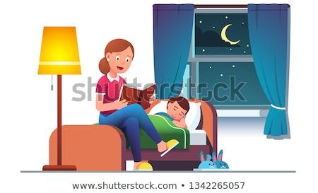 Boy asleep, lying on woman Stock photo © IS2