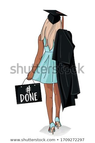 Girl graduating Stock photo © IS2