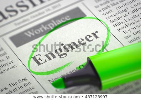 chimiques · ingénieur · bleu - photo stock © tashatuvango