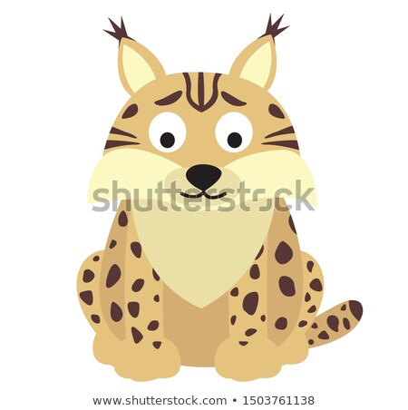Cartoon lynx isolated on a white background Stock photo © tigatelu