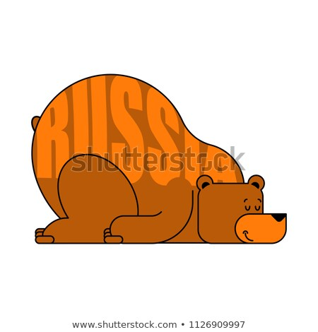 Stock photo: Russian Bear Sleep National Beast In Russia To Sleep Vector Il