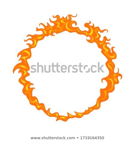 vlam · geïsoleerd · witte · hout · achtergrond · frame - stockfoto © inxti