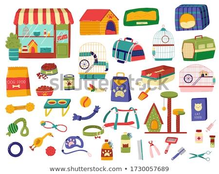 Animal de estimação compras coleção conjunto animal armazenar Foto stock © robuart