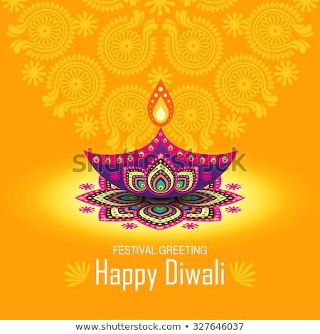 shiny diwali design with sparkles Stock photo © SArts