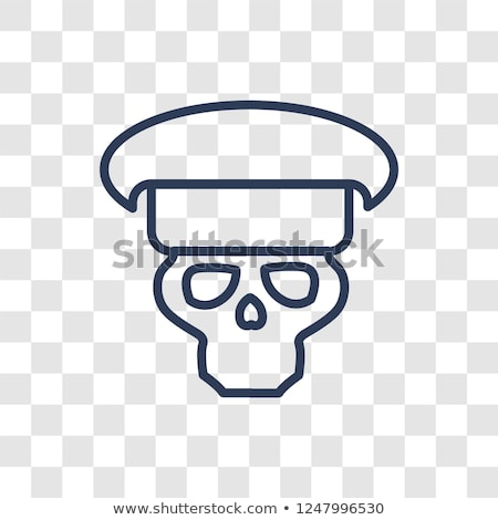 Skull in beret with the Eagle. war emblem. Stock photo © popaukropa