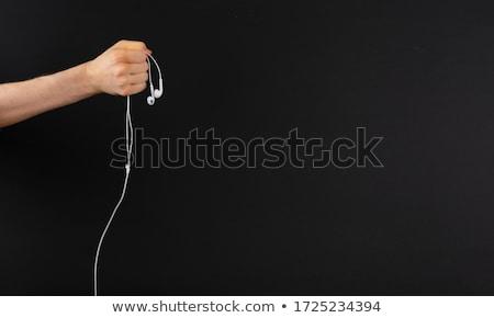 Okostelefon fülhallgató fehér zene fejhallgató kommunikáció Stock fotó © magraphics